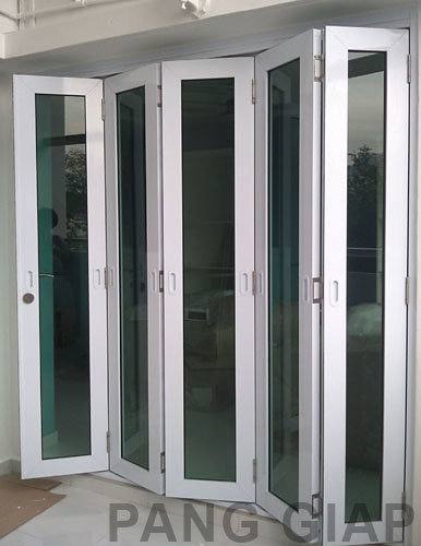 Singpost quest for amusement french doors for hdb for Folding french doors