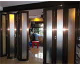 Frosted Glass Folding Doors at Ang Mo Kio Ave 10