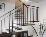 Wrought Iron Staircase Railing at Toa Payoh Lorong 1