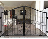Wrought Iron Driveway Gate at Dix Road