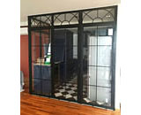 Iron Lattice Glass Partition & Door