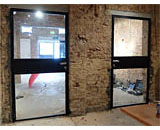 Mild Steel Glass Doors