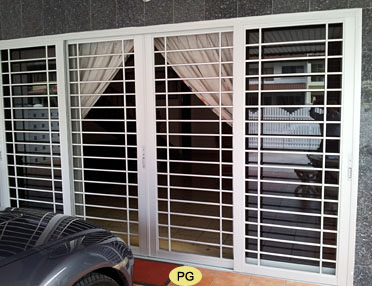Aluminium aluminum window grilles aluminium grille doors for Entrance grill door designs