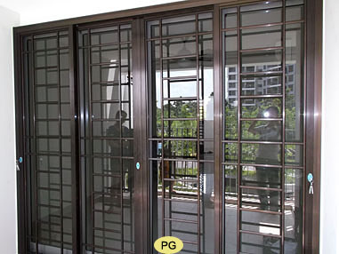 Al grilles on sliding window designs with grills