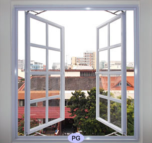 casement sliding louver glass windows