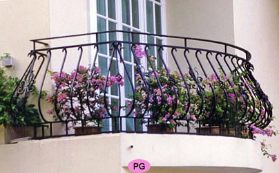 Balcony Pot Belly Window Grille