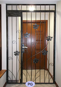 Wrought Iron Gate Floral Design